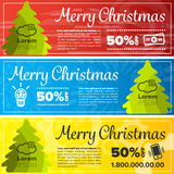 Merry christmas banners Royalty Free Stock Images