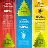 Merry christmas banners Stock Photo