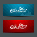 Merry Christmas Banners Set Design Royalty Free Stock Image