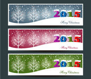 Merry Christmas banners set design Stock Image