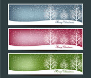 Merry Christmas banners set design with Royalty Free Stock Images