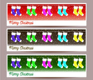 Merry Christmas banners set design  illustration Royalty Free Stock Image