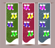 Merry Christmas banners set design  illustration Stock Photography