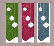 Merry Christmas banners set design  illustration Royalty Free Stock Images