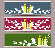 Merry Christmas banners set design  illustration Royalty Free Stock Photos