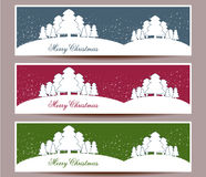 Merry Christmas banners set design  illustration Royalty Free Stock Photo