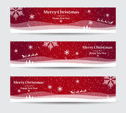 Merry Christmas banners set design Stock Photos