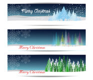 Merry Christmas Banners Set Design Vector Illustration Royalty Free Stock Photography