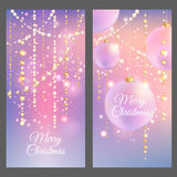 Merry Christmas banners. Vector illustration. EPS 10 vector illustration