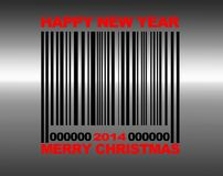 Merry Christmas barcode. Royalty Free Stock Image