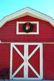 Merry Christmas Barn Stock Image