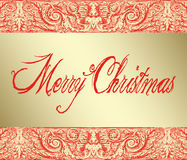 Merry Christmas on Baroque Background Royalty Free Stock Image