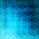 Abstract blue light template geometric background Stock Photography