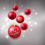 Merry Christmas Bauble greeting card Stock Images