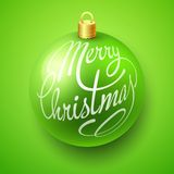 Merry Christmas Bauble with Lettering design Royalty Free Stock Photo