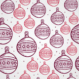 Merry Christmas bauble seamless pattern background Royalty Free Stock Photography