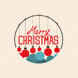 Merry Christmas Baubles. Vector illustration royalty free illustration