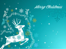 Merry Christmas beautiful vintage reindeer backgro Stock Images