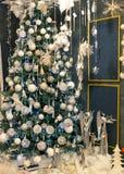 Merry christmas, beautiful xmas tree Royalty Free Stock Photos