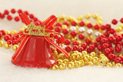 Merry christmas bell Royalty Free Stock Photos