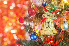 Merry christmas bell Royalty Free Stock Photo