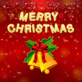 Merry Christmas Bells Royalty Free Stock Photography