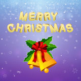 Merry Christmas Bells Royalty Free Stock Photo