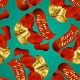 Merry Christmas Bells wrapping paper stock illustration