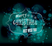 Merry christmas the best wish you light vector background Royalty Free Stock Photos