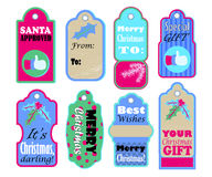 Merry Christmas and Best wishes labels for present wrapping Royalty Free Stock Image