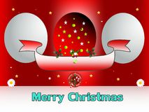 Merry christmas with big eggs Royalty Free Stock Photo