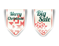 Merry Christmas - big sale with red snowflake Royalty Free Stock Image