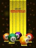 Merry Christmas bingo balls Royalty Free Stock Image