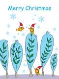Merry Christmas Bird Royalty Free Stock Photography