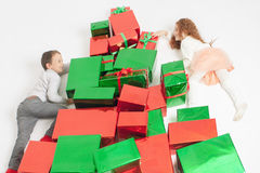 Merry Christmas 2016! Black Friday 2016! Cute little kids Royalty Free Stock Images