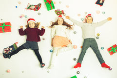 Merry Christmas 2016 Black Friday Cute little kids Royalty Free Stock Photography