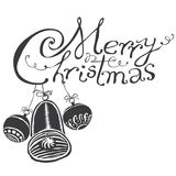 Merry Christmas black & white Stock Photography