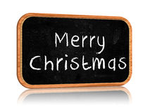 Merry Christmas on blackboard banner Royalty Free Stock Images