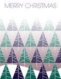 Merry Christmas blizzard with fir trees royalty free illustration