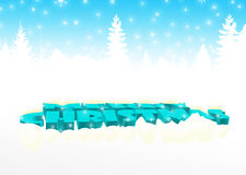 Merry Christmas in blue. Merry Christmas in sky blue royalty free illustration
