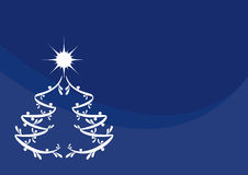 Blue Christmas background. Blue background with a magic Christmas tree. Christmas background. Christmas vector illustration. Blue Christmas background. Christmas Royalty Free Stock Photos