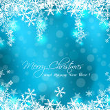 Merry Christmas blue card Stock Photo