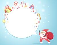 Merry Christmas Blue Greeting Card invitation. Royalty Free Stock Photos