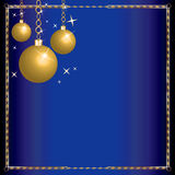 Merry Christmas Blue Wisemen Stock Photo