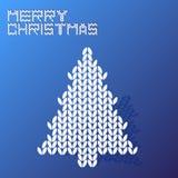 Merry christmas blue wool texture tree  Stock Photo
