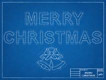 Merry Christmas Blueprint Royalty Free Stock Image