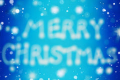 Merry christmas blurred card Stock Images