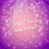 Merry Christmas. Blurred Festive Vector Royalty Free Stock Photo
