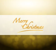 Merry Christmas bokeh light sign Stock Photography