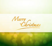 Merry Christmas bokeh light sign Stock Photos